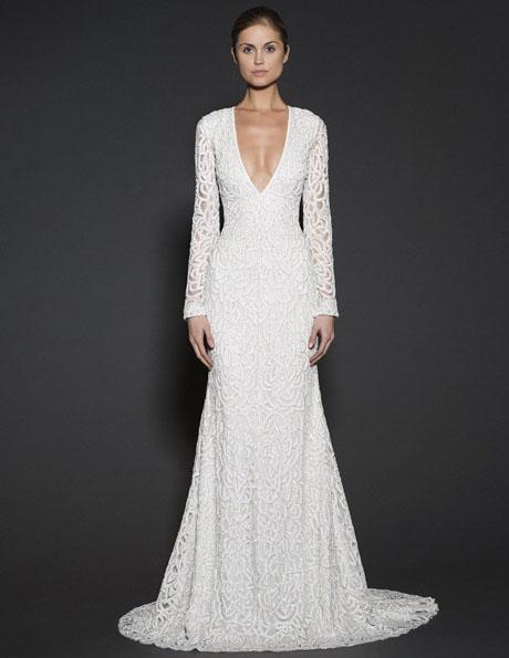 Свадебные платья с кружевными рукавами - Naeem Khan