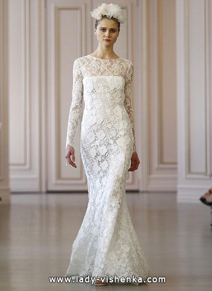 Свадебные платья с кружевными рукавами - Oscar De La Renta