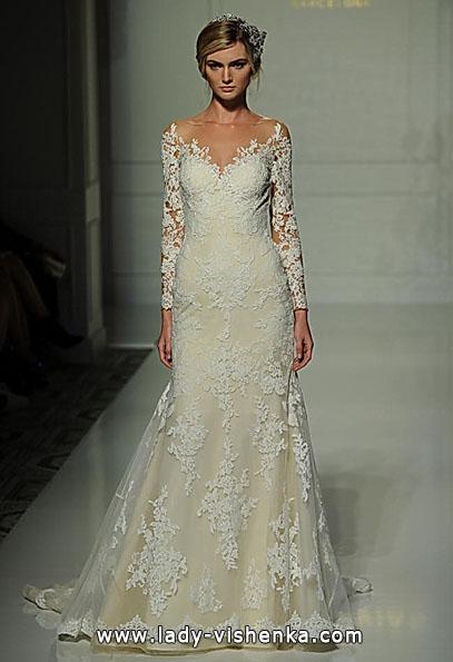 Свадебные платья с кружевными рукавами - Pronovias