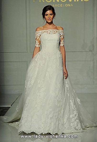 Кружевные свадебные платья с длинным рукавом - Pronovias