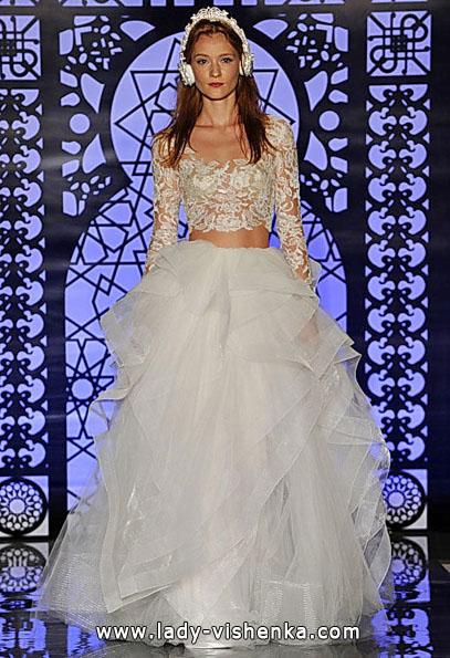 Свадебные платья с кружевными рукавами 2016 - Reem Acra