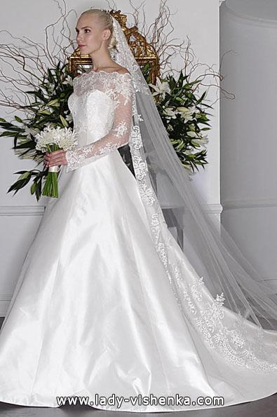 Свадебные платья с кружевными рукавами - Romona Keveza