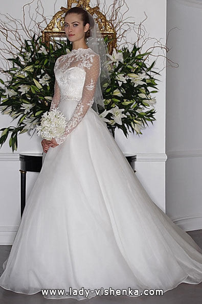 Свадебные платья с кружевными рукавами 2016 - Romona Keveza
