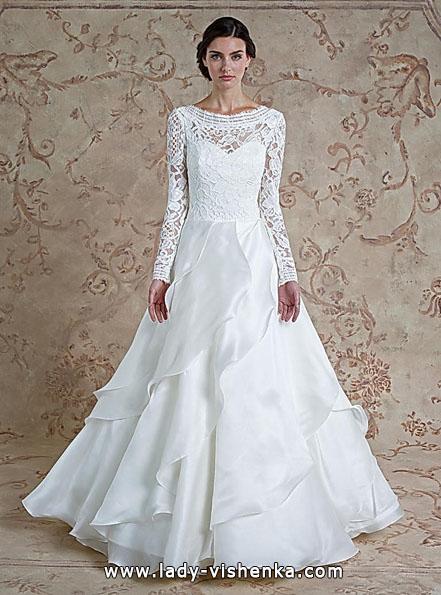 Свадебные платья с кружевными рукавами - Sareh Nouri