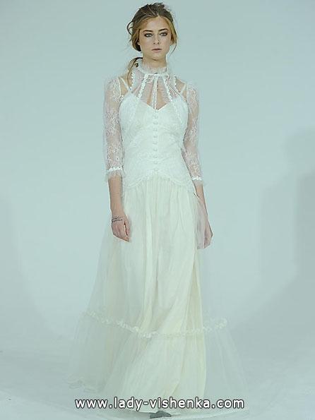Свадебные платья с кружевными рукавами фото - Claire Pettibone