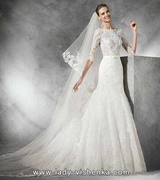 Свадебное платье с кружевным рукавом - Pronovias