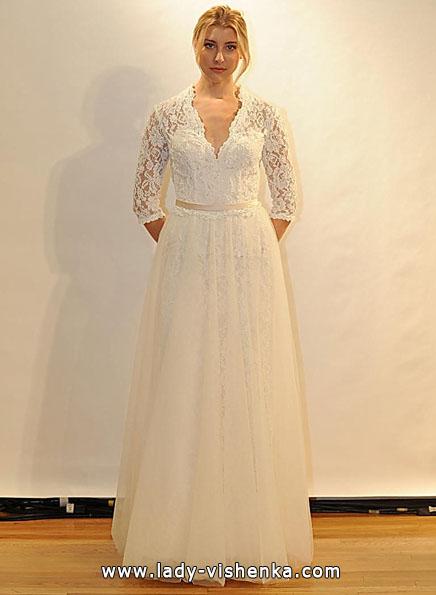 Свадебные платья с кружевными рукавами - Val Stefani