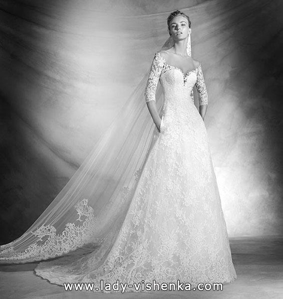 Свадебные платья с кружевными рукавами 2016 - Pronovias
