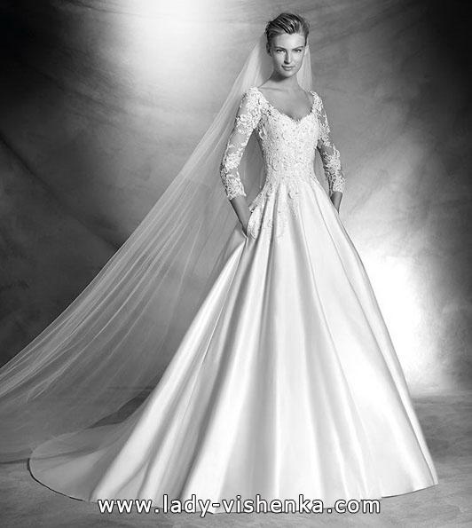 Свадебные платья с кружевными рукавами фото новинки - Pronovias