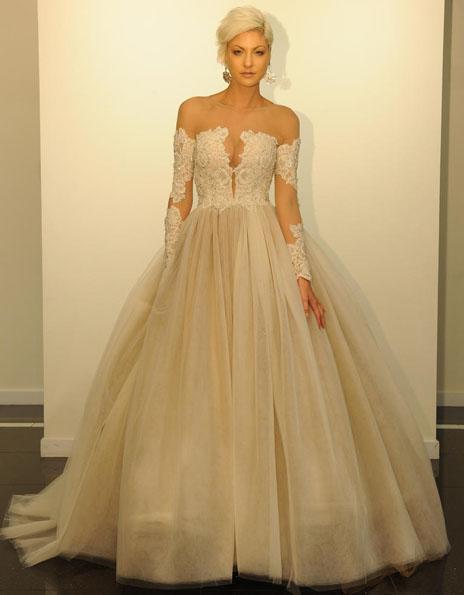 Свадебные платья с кружевными рукавами - Victor Harper