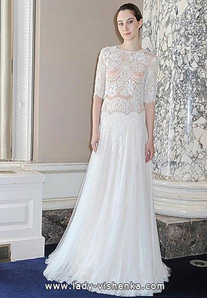Свадебные платья с кружевными рукавами фото - Christos Costarellos