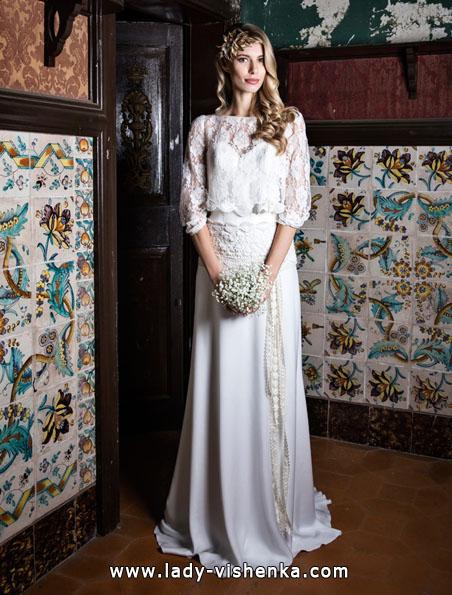 Свадебные платья с кружевными рукавами - Jordi Dalmau