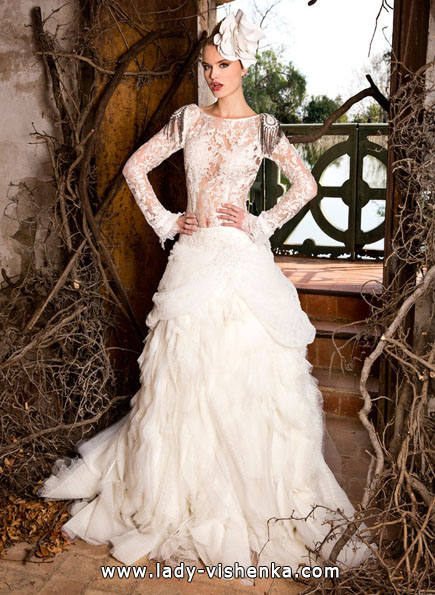 Свадебные платья с кружевными рукавами 2016 - Jordi Dalmau