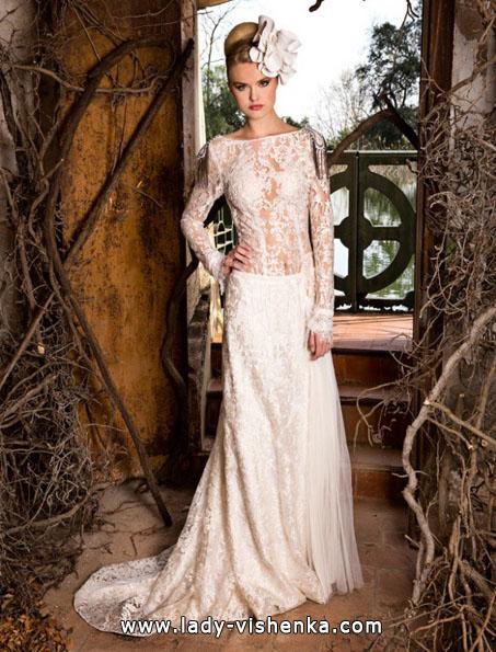 Свадебные платья с кружевными рукавами фото - Jordi Dalmau
