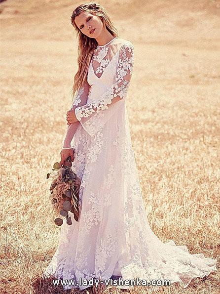 Свадебные платья с кружевными рукавами - Free People