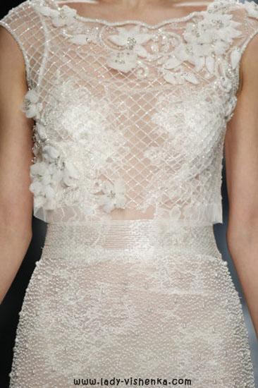 Кружевное открытое свадебное платье YolanCris