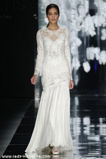 Свадебные платья с рукавами фото YolanCris