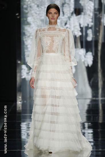 Свадебное платье с рукавами из кружева YolanCris